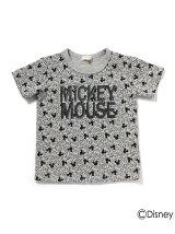 パターンプリントTシャツ(ミッキーマウス)