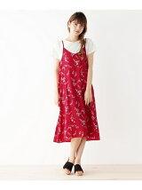 Tシャツセット花柄キャミワンピース