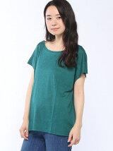 (W)ウール混フレンチスリーブボックスTシャツ・カットソー