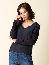 【秋の新作】Vネックドッキングセーター