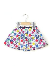 【SALE/50%OFF】フルーツレインボープリントスカートパンツ ベベ オンライン ストア スカート【RBA_S】【RBA_E】【送料無料】