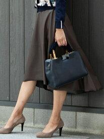 【SALE/15%OFF】Viaggio Blu エコレザーイレギュラーヘムフレアスカート ビアッジョブルー スカート ロングスカート ブラウン ブラック【送料無料】
