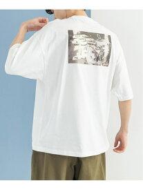 【SALE/25%OFF】Mark Gonzales Mark Gonzales/(U)別注 オーバーサイズ フォトプリント 半袖TEE ロッキーモンロー カットソー Tシャツ ホワイト グリーン ベージュ ブルー パープル ピンク ブラック