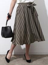 ドビーストライプギャザースカート