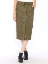 INTERPLANET/(W)【K】 スエードボンチタイトスカート