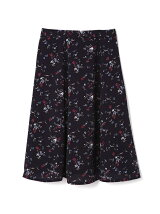 ◆大きいサイズ◆クラシカルフラワープリーツスカート