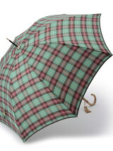 EB33 タータンチェック柄長傘(雨傘)