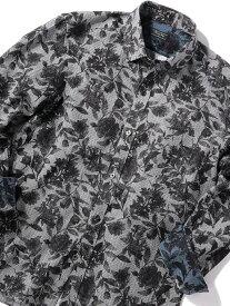 MEN'S BIGI ボタニカルジャカードシャツ【ウォッシャブル仕様】 メンズ ビギ シャツ/ブラウス 長袖シャツ ホワイト ブルー オレンジ【送料無料】