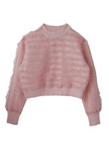 frill tulle knit