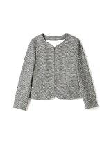 ◆大きいサイズ◆ツイードジャージージャケット