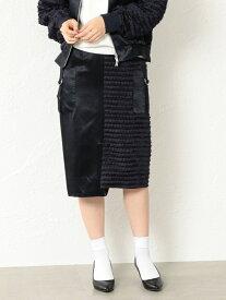 【SALE/40%OFF】GUILD PRIME 【LOVELESS】WOMENスプリットフリンジタイトスカート ラブレス スカート スカートその他 ネイビー【送料無料】
