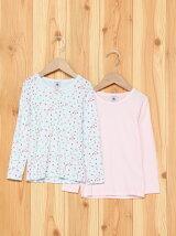 (K)プリント&カラー長袖Tシャツ2枚組