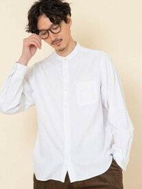 【SALE/55%OFF】coen テキサスコットンツイルバンドカラーシャツ# コーエン シャツ/ブラウス 長袖シャツ ホワイト グレー カーキ ネイビー