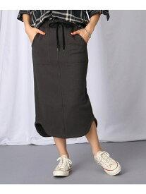 JET 【洗える】裾デザインウエストゴム裏毛スカート ジェット スカート スカートその他 グレー【送料無料】