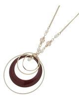 エポ月の輪サークルネックレス