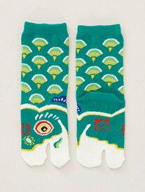 カヤ 緑鯉のぼり足袋15ー17cm チャイハネ ファッショングッズ