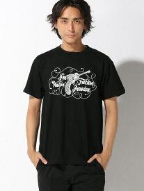 【SALE/30%OFF】Pledge 【6】 ギターガンプリントTシャツ レアリゼ カットソー Tシャツ ブラック ホワイト【送料無料】