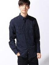 (M)ターンナップミリタリーシャツ
