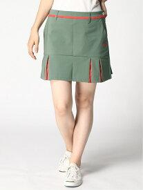 Descente golf (W)ナイロンストレッチライト裏起毛スカート デサントゴルフ スカート ミニスカート カーキ ブラック【送料無料】