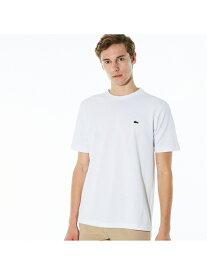LACOSTE 鹿の子クルーネックTシャツ(半袖) ラコステ カットソー Tシャツ ホワイト ブラック ネイビー【送料無料】