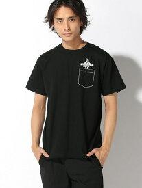 【SALE/30%OFF】Pledge 【6】 フェイクポケット ロザリオプリントTシャツ レアリゼ カットソー Tシャツ ブラック ホワイト【送料無料】