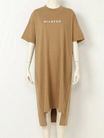 【SALE/50%OFF】MILKFED. ELLIE LOGO TEE DRESS ミルクフェド ワンピース【RBA_S】【RBA_E】