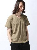 (M)NAVAL Select/ケーブルリンクスVネック半袖Tシャツ