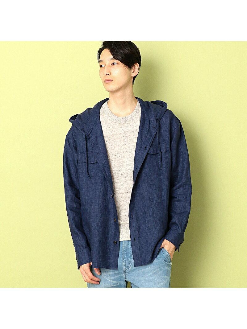 COMME CA COMMUNE フードシャツブルゾン コムサイズム コート/ジャケット【送料無料】