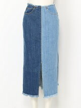 FRONT SLIT DENIM スカート
