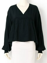 SWITCHING GATHER L/S BLOUSE