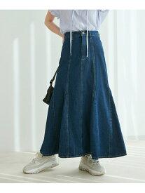 ViS 【vis-`a-vis】デニムマーメイドスカート ビス スカート デニムスカート ネイビー ホワイト ブルー