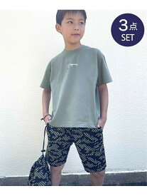【SALE/50%OFF】ikka 【キッズ】[速乾]ドラム型ポーチつきTシャツハーフパンツセット(120~160cm) イッカ その他 福袋 グリーン ネイビー ベージュ
