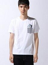 刺繍&プリントポケットTシャツ