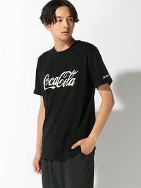 【SALE/60%OFF】nano・universe Selected :Coca-ColaTシャツSS ナノユニバース カットソー Tシャツ ブラック ホワイト レッド
