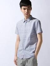 (M)手書きギンガム半袖シャツ