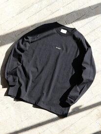 BEAMS MEN BEAMS / ミニロゴ ロングスリーブ Tシャツ ビームス メン カットソー Tシャツ ブラック グレー ホワイト【送料無料】