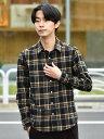 SHIPS SHIPS: japan quality フェザー チェック レギュラーカラー ネルシャツ シップス シャツ/ブラウス 長袖シャツ …