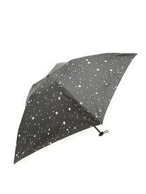 Ray BEAMS Ray BEAMS / 星柄 プリント 折りたたみ傘 レイ ビームス ビームス ウイメン ファッショングッズ