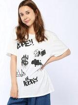 ANAPラクガキプリントBIGTシャツ