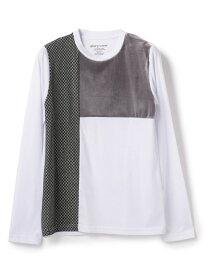【SALE/30%OFF】glory crew パネル柄カットソー メンズ ビギ カットソー Tシャツ グリーン ホワイト ネイビー