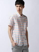 (M)ハンドライティングボーダーシャツ