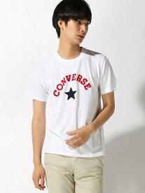 【SALE/54%OFF】CONVERSE (M)コンバース別注サガラビック刺繍Tシャツ ウィゴー カットソー Tシャツ ピンク ホワイト