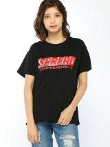 【BROWNY】(L)グリッターロゴプリントTシャツ