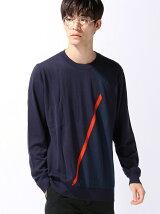 (M)ダイア柄ニット・セーター