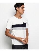 2段胸切替Tシャツ