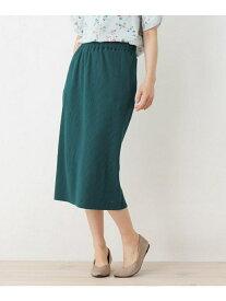 SHOO・LA・RUE 2WAYリブスリットスカート シューラルー スカート スカートその他 グリーン イエロー ネイビー