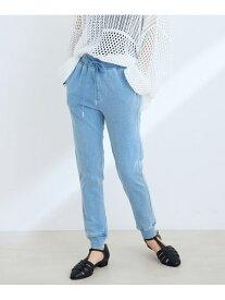 ViS 【Daily use】カットデニムジョガーパンツ<WEB限定> ビス パンツ/ジーンズ パンツその他 ブルー ブラック ネイビー ピンク