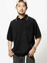 BEAMS / 天竺編み ニット ポロシャツ <ギフト>