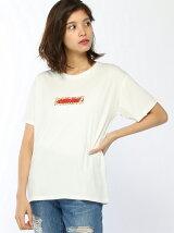【BROWNY】(L)フラワーBOXロゴTシャツ