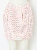 【W】ツィードミニスカート